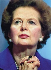Dame Margaret Thatcher