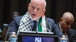 UN president slammed for wearing a Palestinian scarf