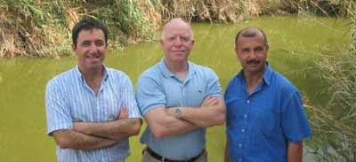 EcoPeace Co-Directors, Gidon Bromberg (Israel), Munqeth Mehyar (Jordan) and Nader Al-Khateeb (Palestine)