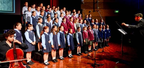 The Combined Children's Choir under the baton of Joseph Toltz   All photos; Henry Benjamin