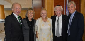 Joe and Mrs Lieberman, Shirley Lowy, Frank Lowt and Steven Lowy