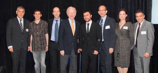 Lance Rosenberg, Galit Shalit, Sagi Ben-Yosef, Joe Lieberman, Noam Gershony, Gary Perlstein, Roni Shorer and Danny Taibel
