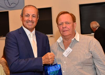 Vic Alhadeff and President of the Zacynthos Association Jim Koutsos