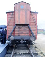 A wagon used to transport Jews to the death camps