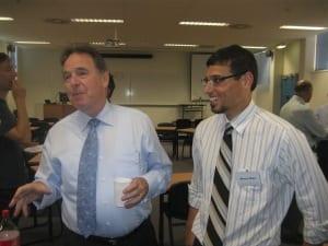 Graeme Samuel [l] with CJF founder Manny Waks