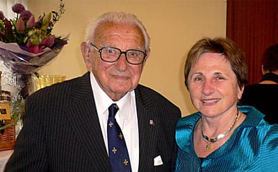 Sir Nicholas Winton and Vera Egermayer