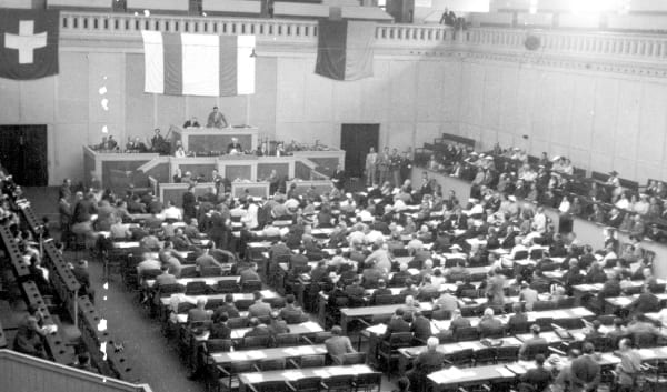 First Plenary Assembly of the World Jewish Congress in Geneva, August 1936