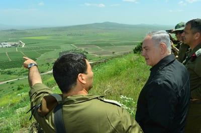 Israeli Prime Minister Benjamin Netanyahu on a tour of the Golan Heights earlier this year. Credit: Kobi Gideon/GPO.