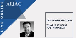 """Oct-22 7:30pm Zoom: Greg Sheridan on Zoom for AIJAC: """"The 2020 US election: What is at stake for the world?"""""""