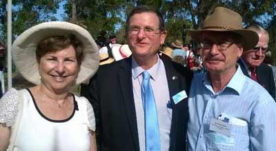 Gloria Allen, Ambassador Shmuel Ben-Shmuel and Peter Allen