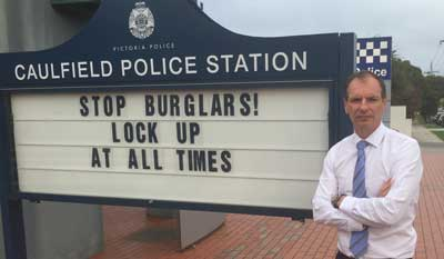 David Southwick ay Caulfield police station