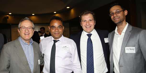 David Knoll. Yateender Gupta, Jeremy Spinak and Arjit Banjari    Pic: Ingrid Shakenovsky