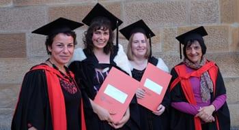 Dr Avril Alba, Anne Thompson, Lindsay Thorpe and Professor Suzanne Rutland