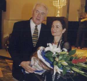 Gough Whitlam and Jana Vyrthlik