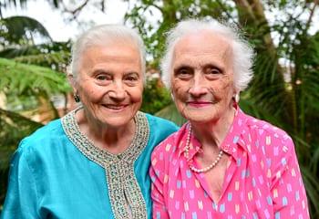 Eva Grinston and Ibi Wertheim Australia Day, Sydney, 2015     Photo: Henry Benjamin