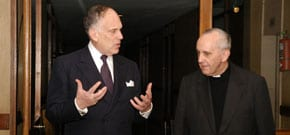 Ronald S. Lauder with Pope Francis I when he was Cardinal Bergoglio