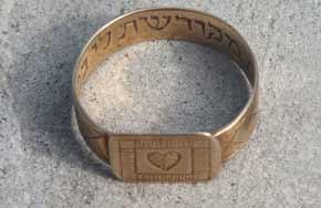 Wedding ring found on site  Photo: Yoram Haimi