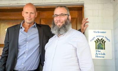 The King and I: Teddy Tapu Rhodes and Rabbi Mendel Kastel   Photo: David Sokol/J-Wire