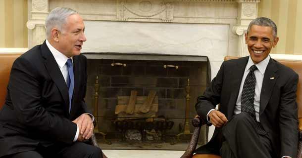 Prime Minister Binyomin Netanyahiu and President Barack Obama