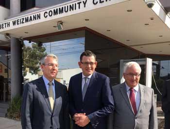 Mark Dreyfus, Premier Daniel Andrews and Michael Danby