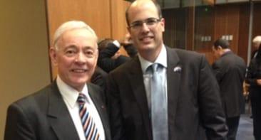 Senator Bob Day with Avi Hasson