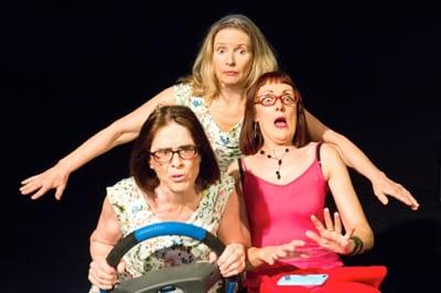 Elaine Hudson, Anne Tenney & Taylor Owynns in Let's Talk About You Photo by Vicki Skarratt: