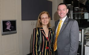 Gabrielle Upton and Bruce Notley-Smith