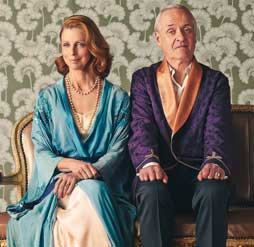 Heather Mitchell and Tony Llewellyn-Jones in Hay Fever Photo: James Green