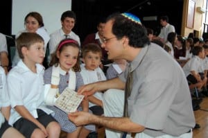 kids with teacher