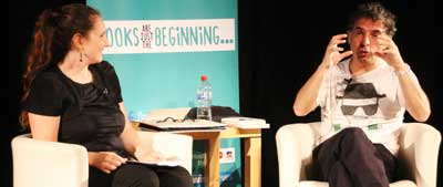 Michaela Kalowski interviews Etgar Keret Photo: Ben Apfelbaum/J-Wire