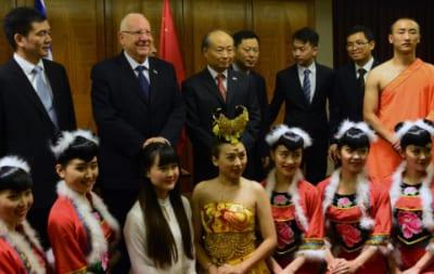President Rivlin [2nd left]   Photo: Kobi Gidon