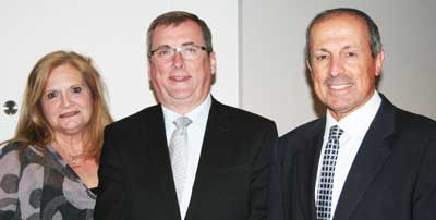 Melissa McCurdie, NSW Labor Party president Mark Lennon, Vic Alhadeff.