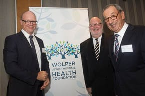 John Tucker, Harry Aizenberg and Dr David Golovsky  Pic: Henry Benjamin